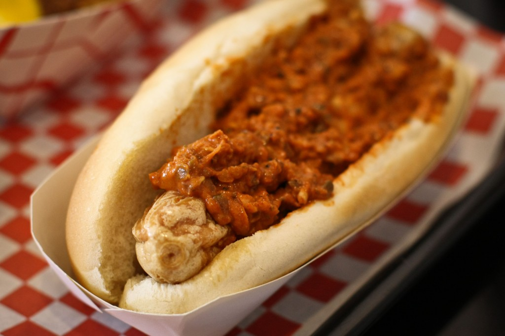 Bald Eagle Ripper - Deep Fried Dog with Spicy Relish
