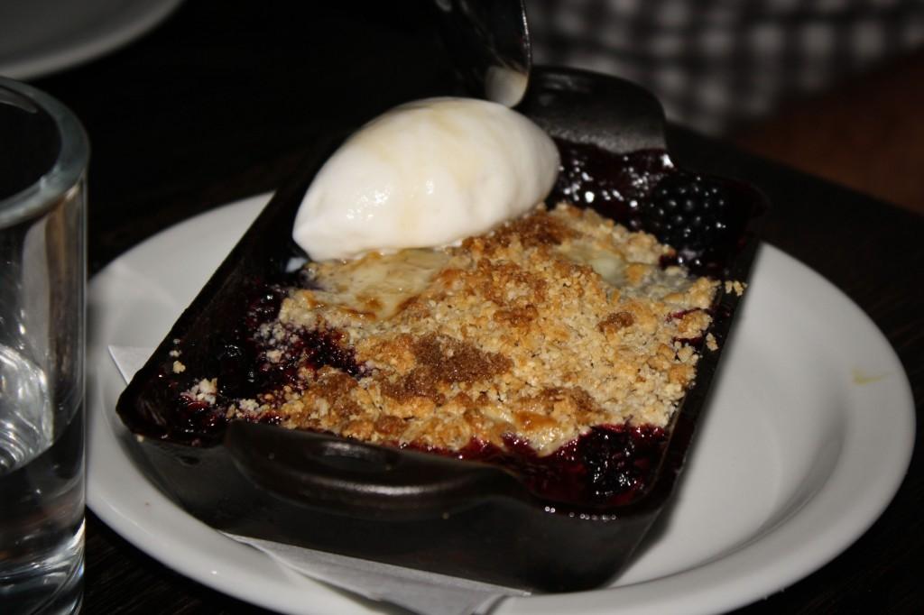 Blackberry Cobbler with Creme Fraiche Ice Cream