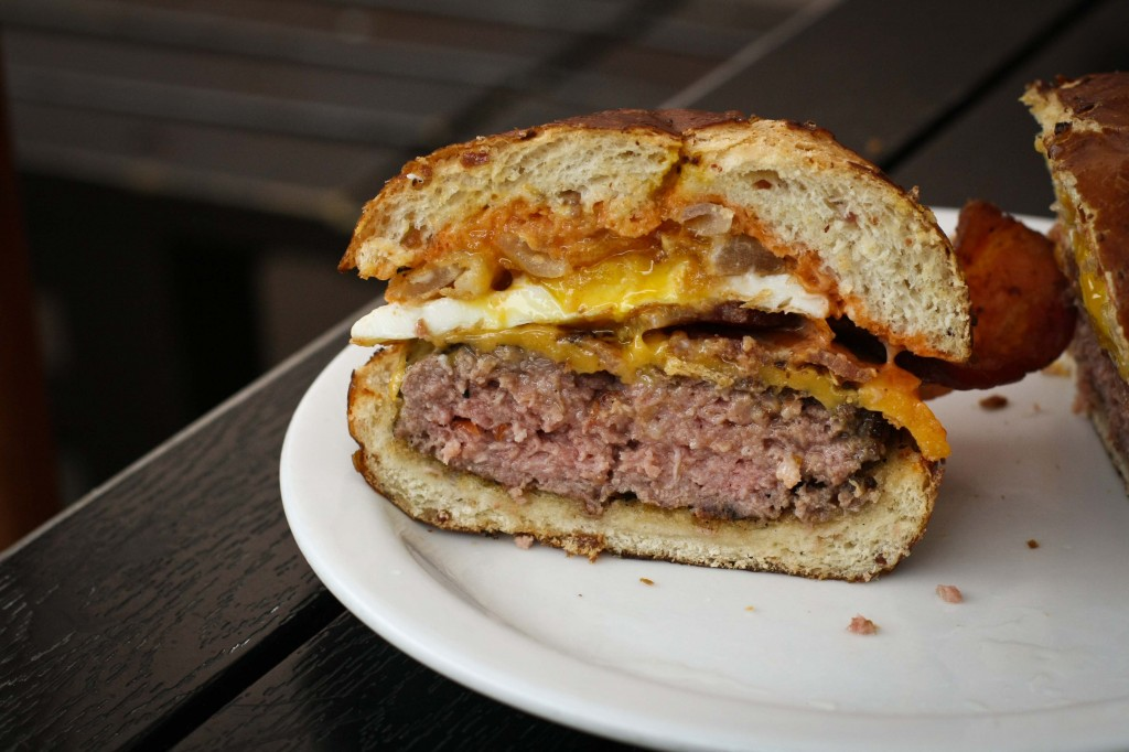 Cross Section of the BBB Bacon Burger