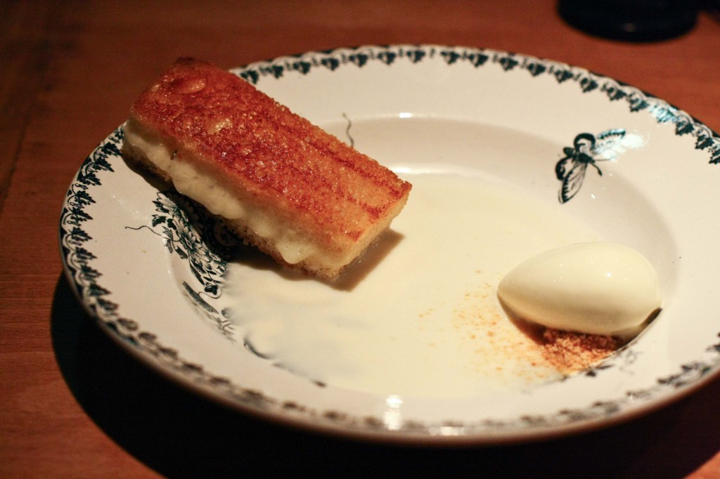 Truffle Grilled Cheese with Campfire Ice Cream