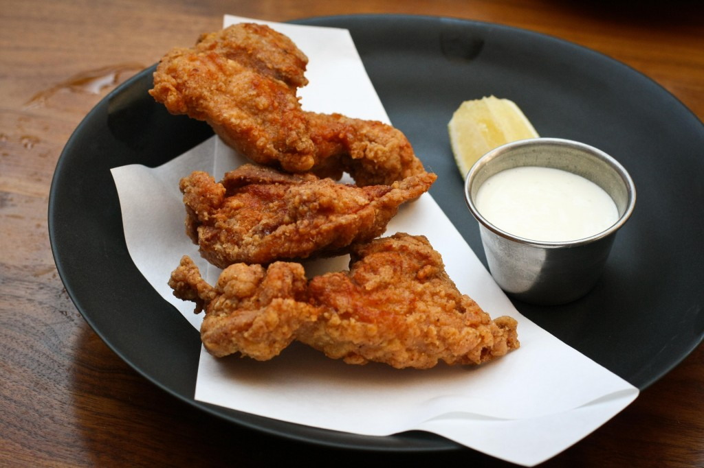 Crispy Marinated Chicken, lemon aioli