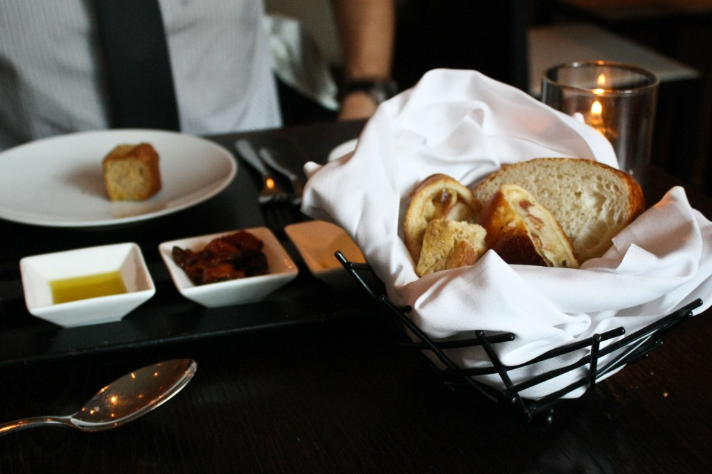 Amazing Bread Basket with slices of Stromboli!