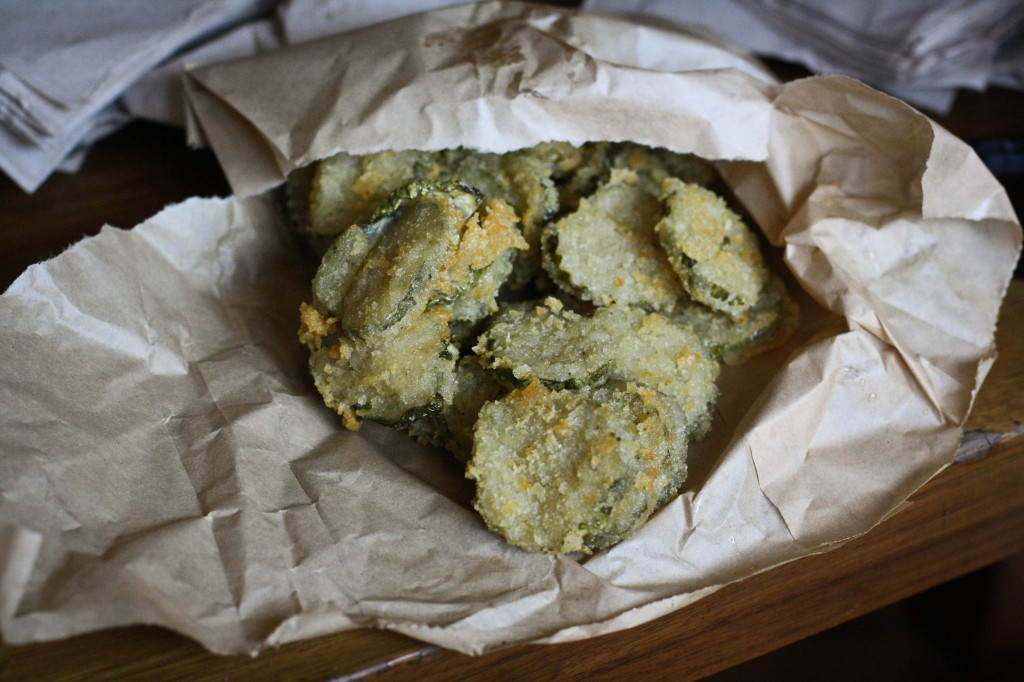 Fried Pickles - Served with a dipping sauce.