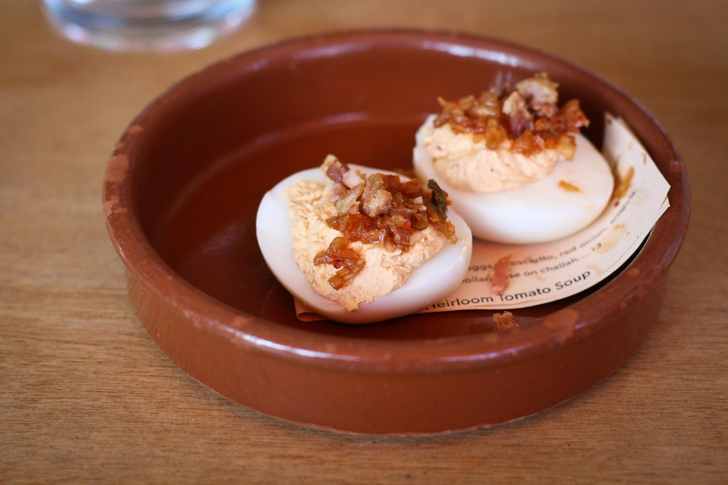 Kimchee Deviled Eggs