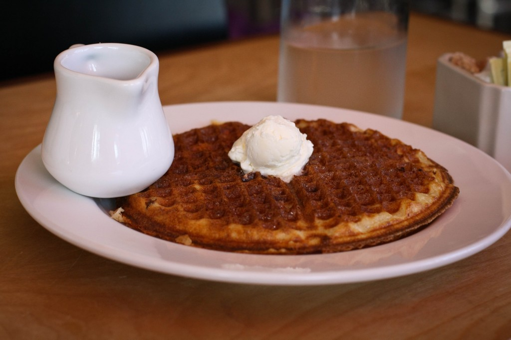 Dave's Granola Waffle -   whipped local butter + maple-agave syrup