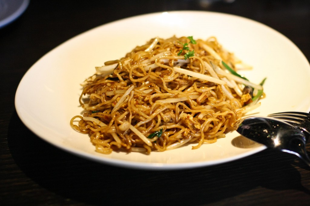 Hakka Noodle with mushrooms and Chinese chives