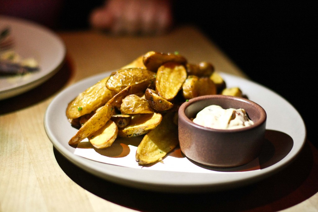 Smoked Fingerling Potatoes and Dip