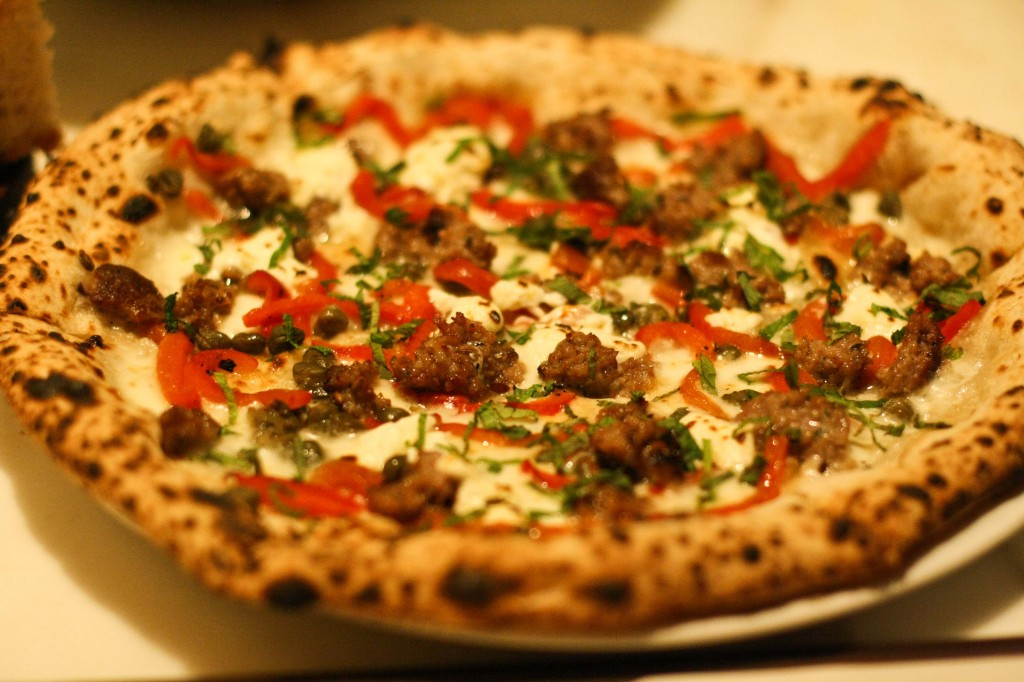 House Made Lamb Sausage - Fresh Mozzarella, Preserved Lemons, Calabrian Chili, Fresh Mint
