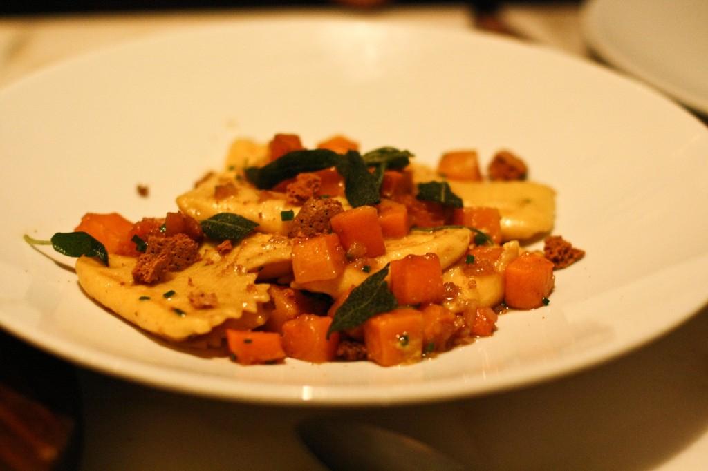 Agnolotti - Butternut Squash & Ricotta Filled Agnolotti, Spice Roasted Butternut Squash, Sage, Amaretti Cookie