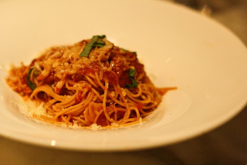 Pomodoro - Spaghettini, San Marzano Tomato Sauce, Grana Padano Cheese, Fresh Basil