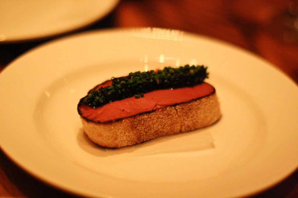 Chicken liver toast with shallot jam