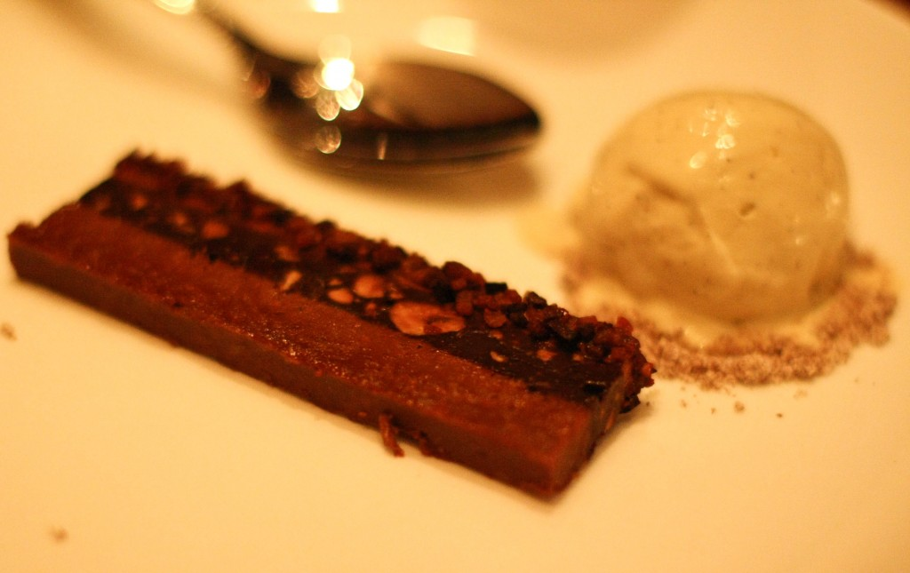 Bacon chocolate crunch bar, salt and pepper ice cream