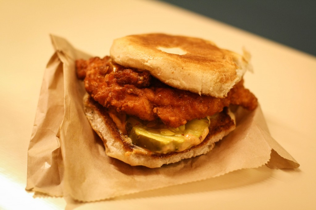 Spicy Fried Chicken Slider with Cajun Dressing & Pickle