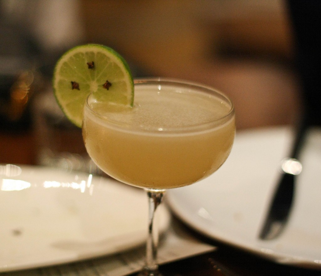 Daiquri Martinique, rhum agricole, lime, cloves