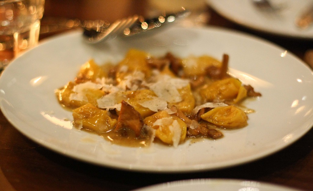 Butternut Squash Agnolotti, hedgehog mushrooms, parmesan