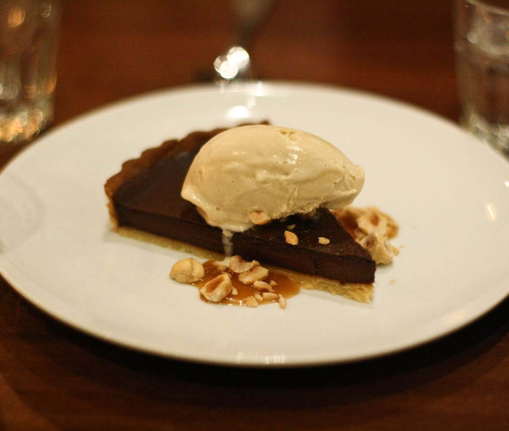 Dark Chocolate Tart, espresso ice cream