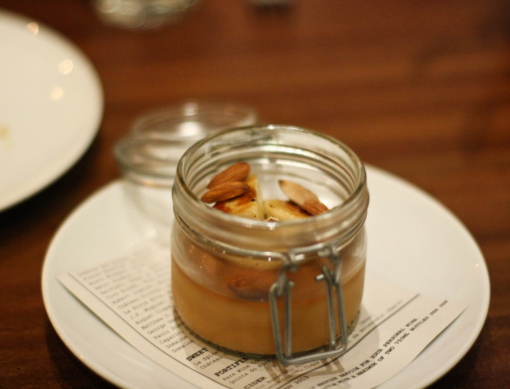 Caramel Cremeaux - banana, roasted almonds