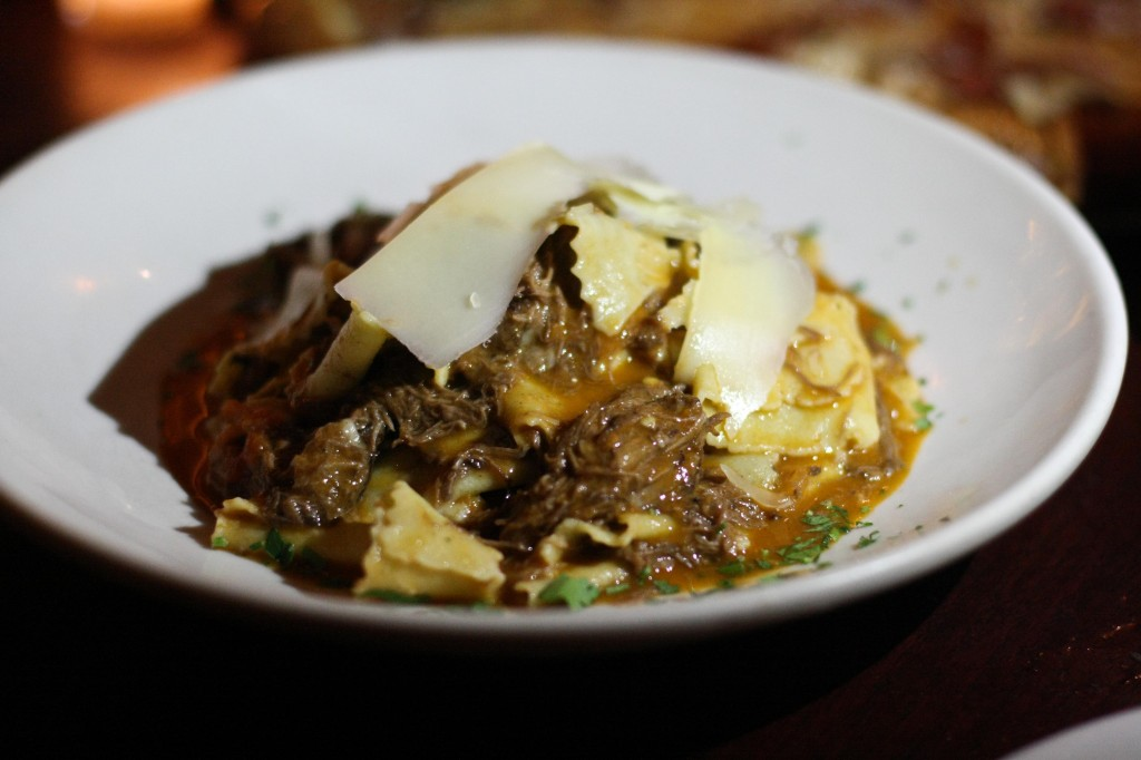 Papardelle W/ Braised Short Rib, Fresno Chile & Shaved Parmesan