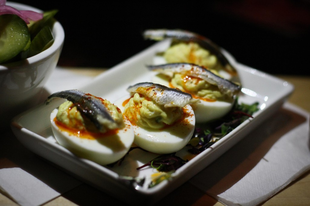 Deviled Eggs with White Anchovy
