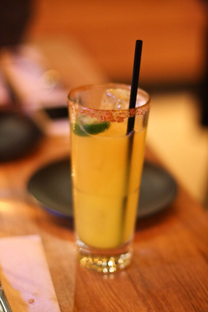 TROPIC THUNDER $12.00  jalapeno infused tito's vodka, mango, lemon juice, sugar