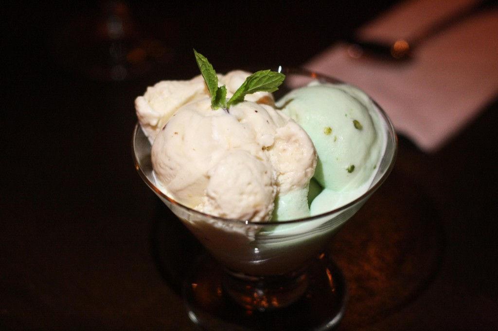 Almond and Pistachio Ice Cream