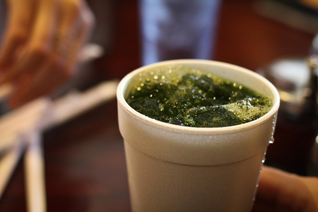 Pennywort Juice - Kind of like sweet wheat grass juice.