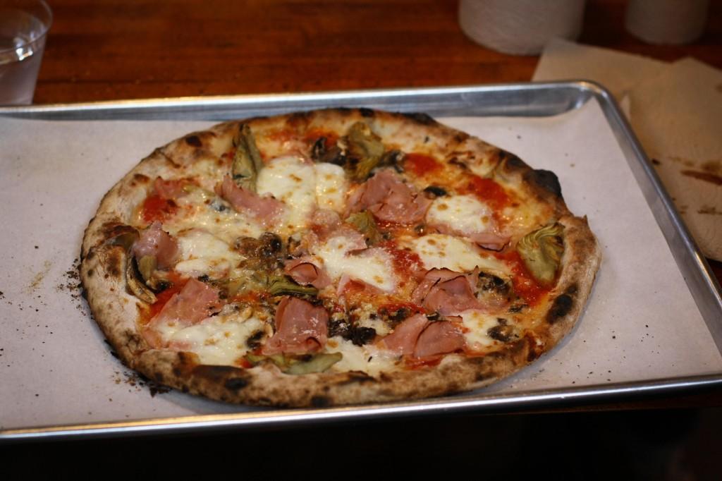 CAPRICCIOSA - Mushroom, artichoke, prosciutto, garlic, buffalo mozzarella