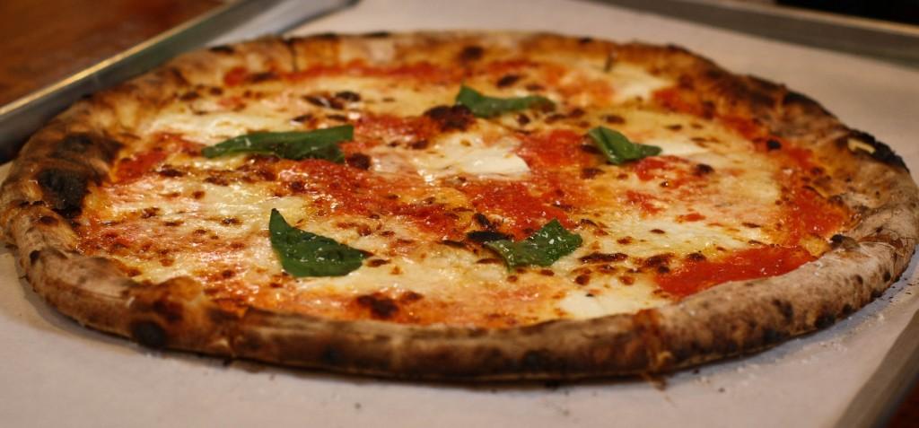 MARGHERITA D.O.P.  -San Marzano tomato, buffalo mozzarella, basil, garlic