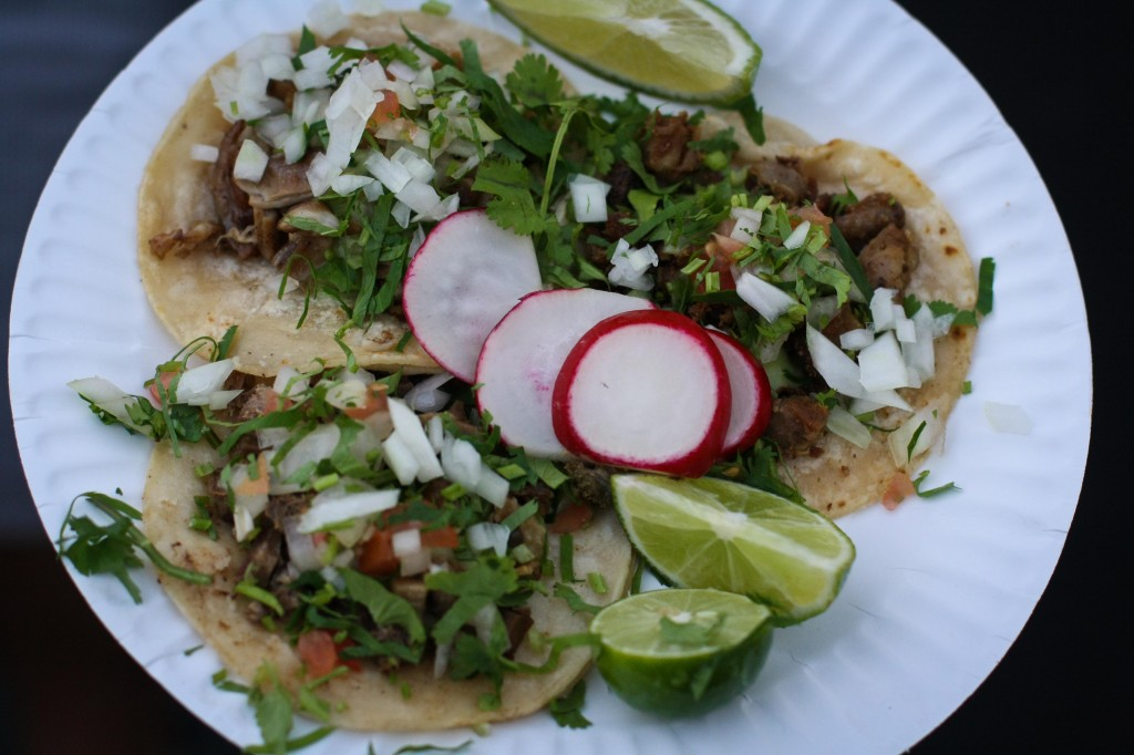 Tongue, Tripe and Pork Stomach Taco