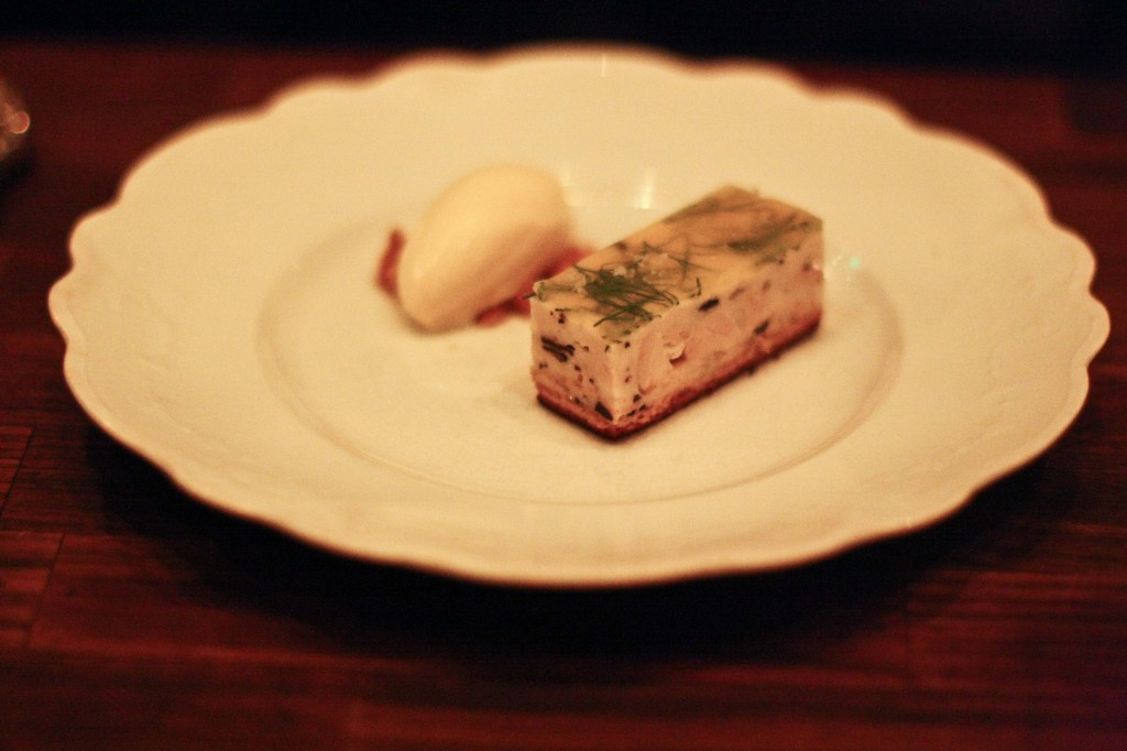 Terrine - Chicken, pain purdu, dijon gelato