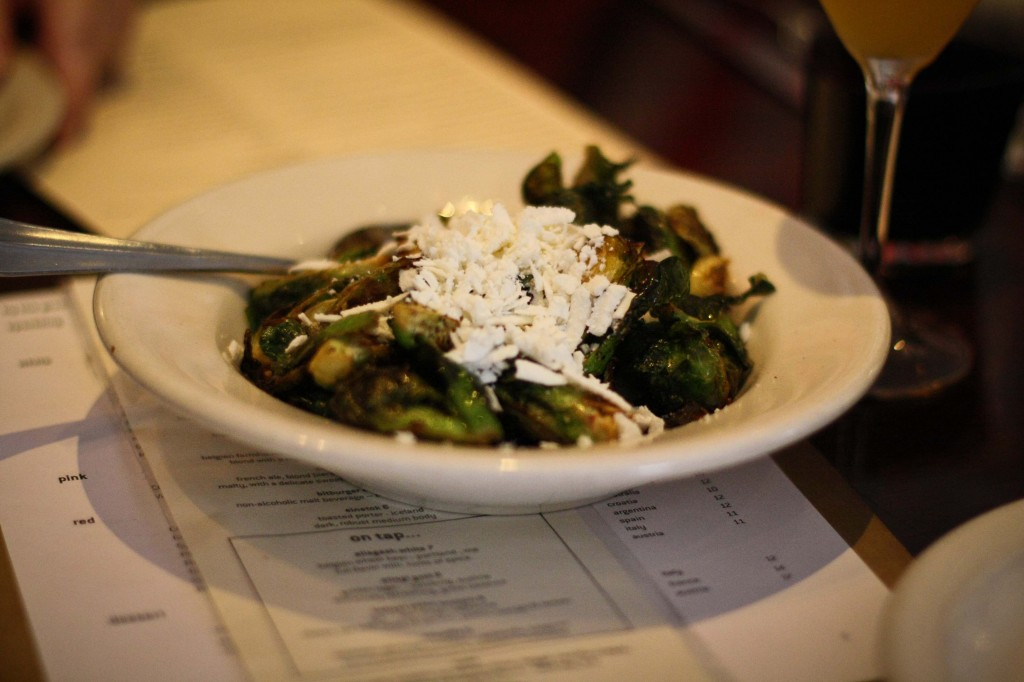 Crispy Brussels sprouts with ricotta salata