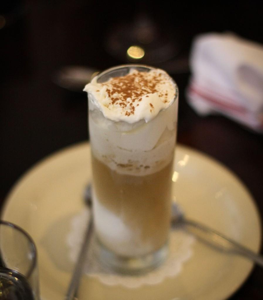 """Affogato - Tahitian vanilla bean gelato """"drowned"""" in espresso"""