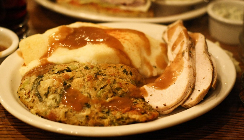 Turkey Breast Dinner with Stuffing and Mashed Potatoes