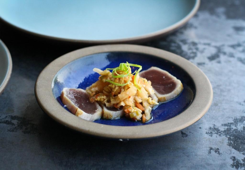 Yellowfin Tuna Tataki, White Boy Kimchi