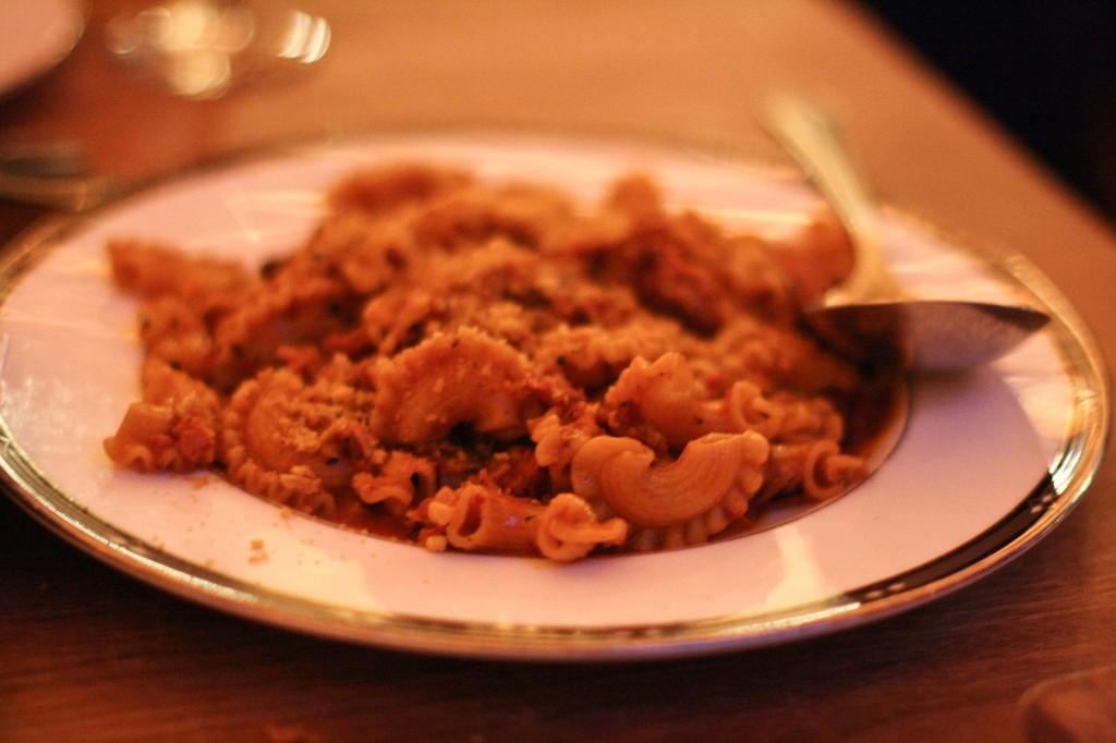 Creste di Gallo, Calabrian sausage, breadcrumbs
