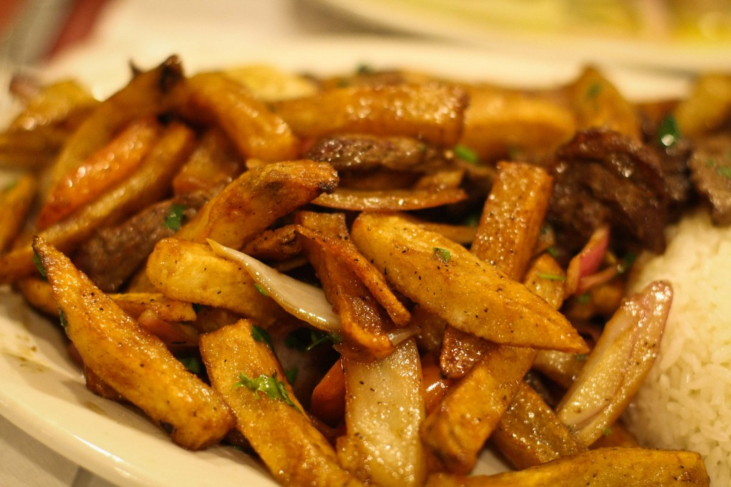 This Lomo Saltado is 75% French fries and that's a good thing.