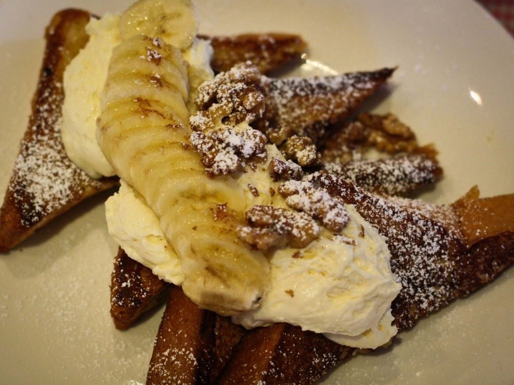 Stuffed French Toast - Caramelized Bananas, walnuts and banana pudding