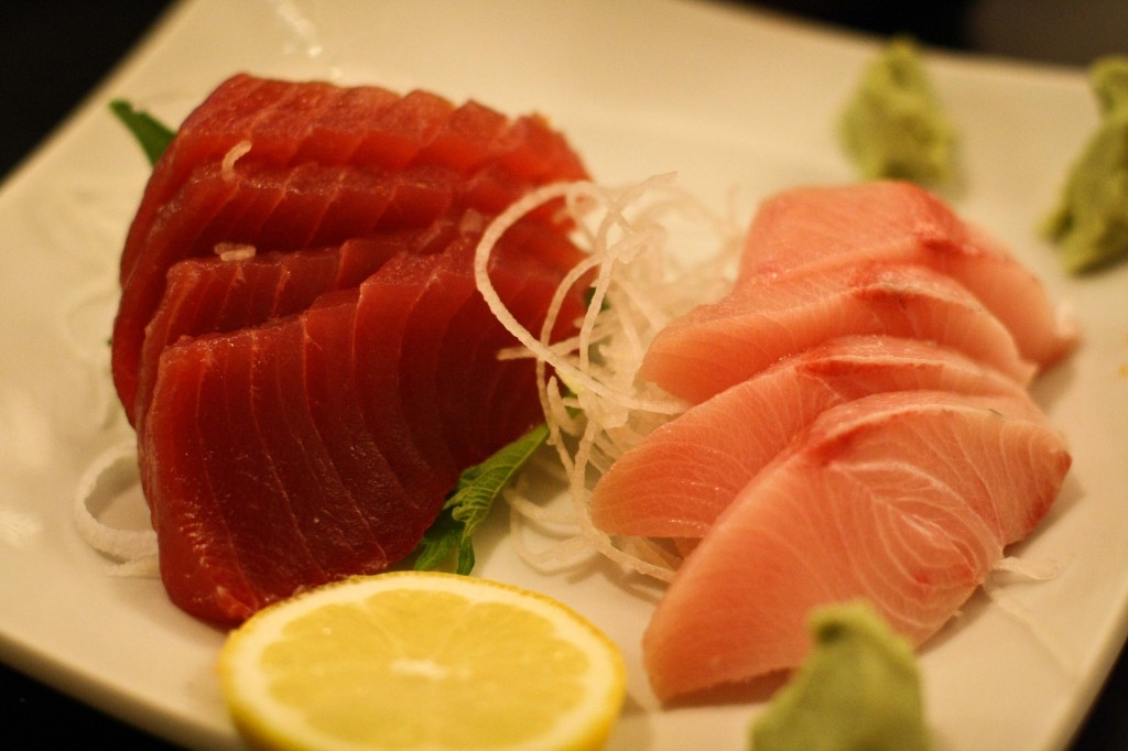 Ahi and Yellowtail sashimi