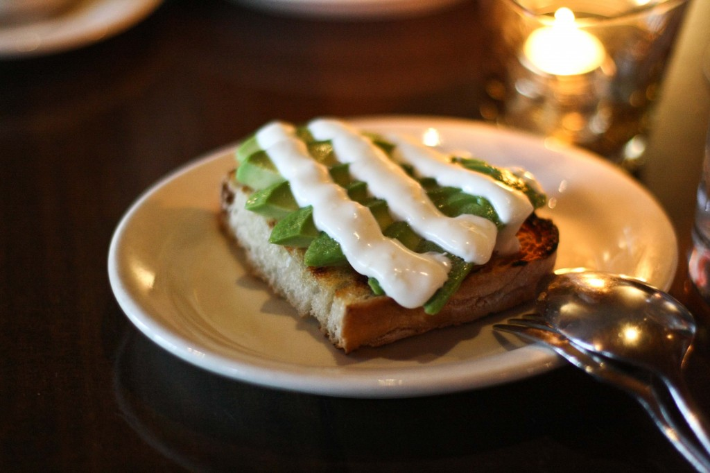 Avocado Toast with lemon cream