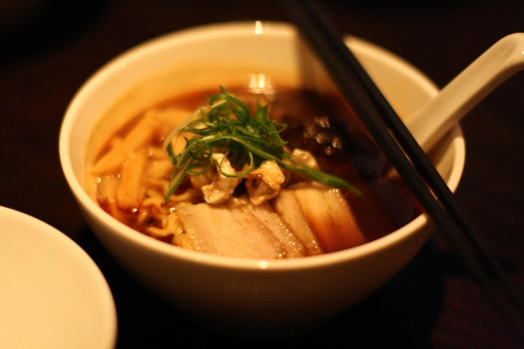 Spicy Chinese Ramen - ma la bamboo, pork belly, crispy ear