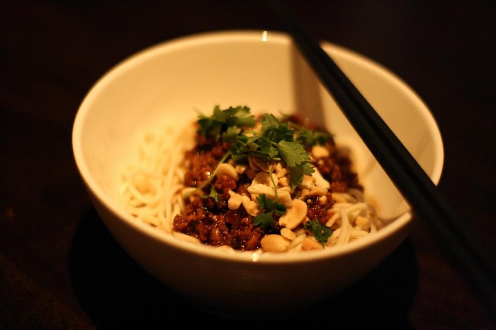 Dandan Noodles - kurobuta pork, sesame, preserved mustard greens, sichuan peppercorns, peanuts