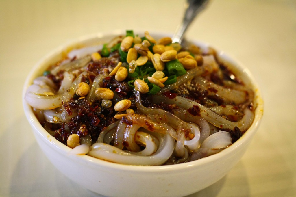 Spicy Mung Bean Noodles