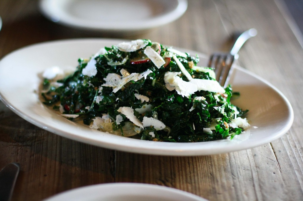 Tuscan Kale, shaved fennel, radish, lemon, ricotta salata and breadcrumbs