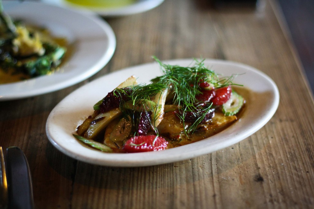 Roasted Fennel, blood orange, chili and fennel pollen