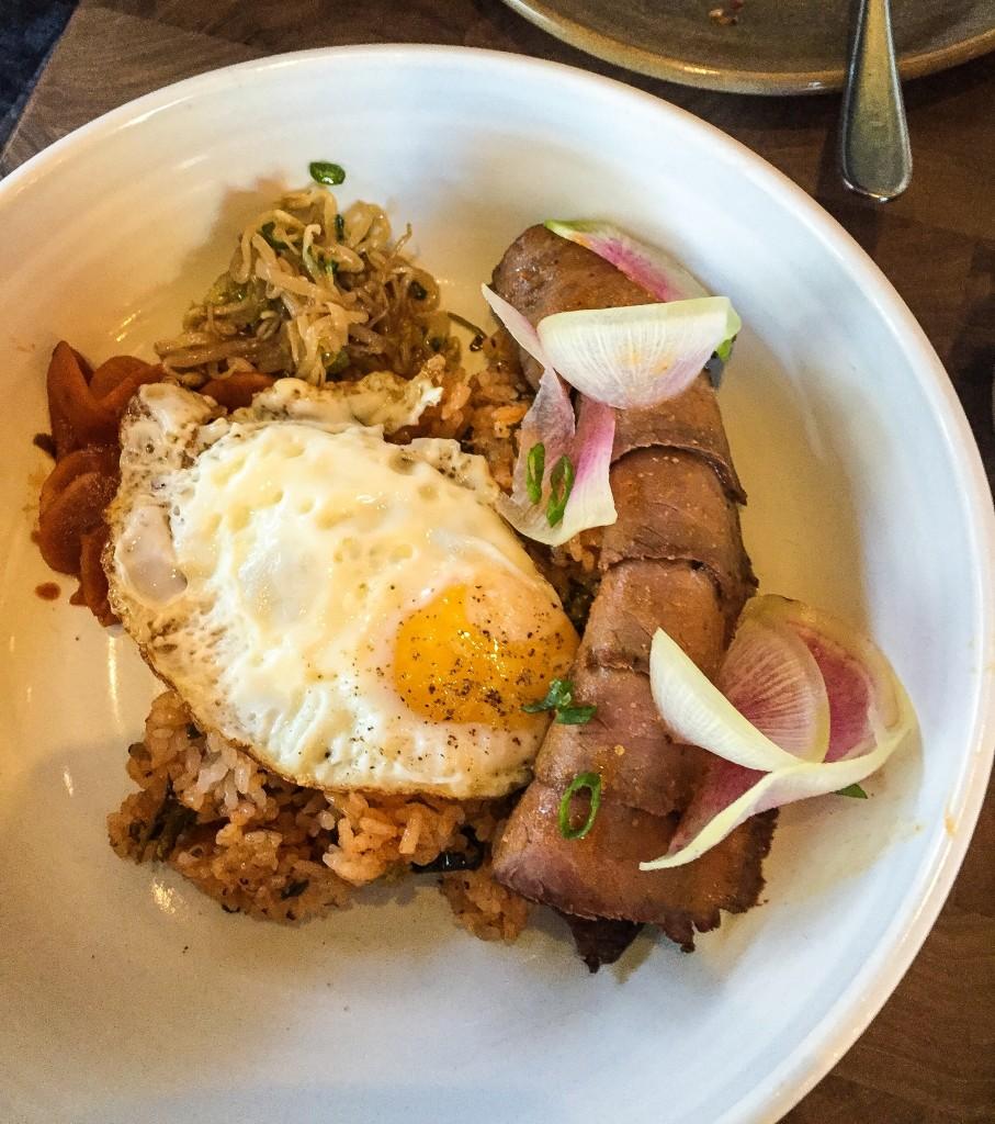 Tri-Tip $18 - Fried Egg, Rice, Kimchi